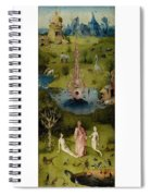The Garden Of Earthly Delights Left Wing - Paradise Hieronymus Bosch Spiral Notebook