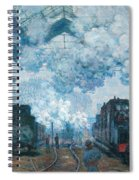 The Gare Saint-lazare Arrival Of A Train Spiral Notebook