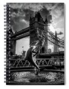 The Girl And The Dolphin - London Spiral Notebook