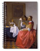 The Girl With A Wineglass Spiral Notebook