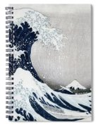 The Great Wave Of Kanagawa Spiral Notebook