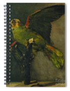 The Green Parrot Spiral Notebook