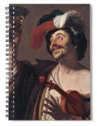 The Happy Violinist Spiral Notebook