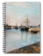The Harbor At Lorient Spiral Notebook