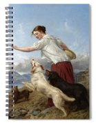 The Highland Lassie Spiral Notebook
