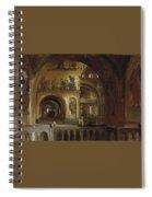 The Interior Of St Marks Basilica Venice Frederick Leighton Spiral Notebook