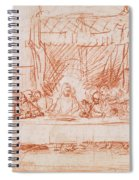 The Last Supper, After Leonardo Da Vinci Spiral Notebook