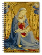 The Madonna Of Humility Spiral Notebook