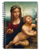 The Madonna Of The Yarnwinder Spiral Notebook
