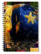 The Moon Has A Bath Spiral Notebook