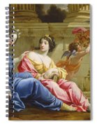 The Muses Urania And Calliope Spiral Notebook