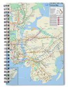 The New York City Pubway Map Spiral Notebook