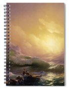 The Ninth Wave Spiral Notebook