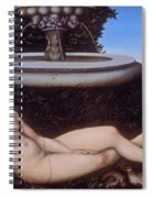 The Nymph Of The Fountain Spiral Notebook