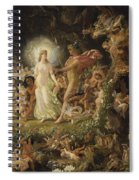 The Quarrel Of Oberon And Titania Spiral Notebook