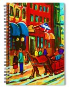 The Red Sled Spiral Notebook