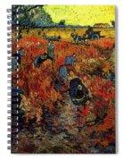 The Red Vineyard At Arles Spiral Notebook