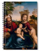 The Rest On The Flight Into Egypt With St. John The Baptist Spiral Notebook