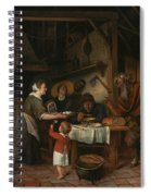 The Satyr And The Peasant Family Spiral Notebook