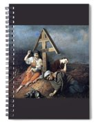 The Scene At The Grave H 1859 58h69 Am Gtg Vasily Perov Spiral Notebook