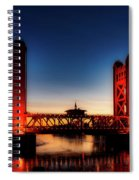 The Tower Bridge At Sunset Spiral Notebook