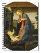 The Virgin Adoring The Child Spiral Notebook