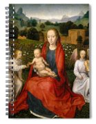 The Virgin And Child Between Two Angels Spiral Notebook