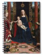 The Virgin And Child With Saints And Donor Spiral Notebook