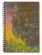 The Water Lilies, Setting Sun Spiral Notebook