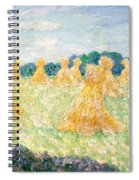 The Young Ladies Of Giverny, Sun Effect Spiral Notebook