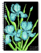 Three  Blue Irises Spiral Notebook
