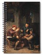 Three Peasants At An Inn Spiral Notebook