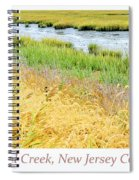 Tidal Creek Mud Flat At Low Tide Spiral Notebook
