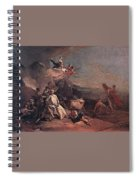 Tiepolo The Rape Of Europa Giovanni Battista Tiepolo Spiral Notebook