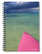 Tip Of Pink Kayak Spiral Notebook