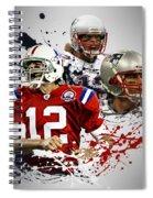 Tom Brady Patriots Spiral Notebook