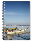 Traditional Fishing Boats On Dili Beach In East Timor Leste Spiral Notebook