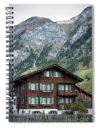 Traditional Swiss Alps Houses In Vals Village Alpine Switzerland Spiral Notebook