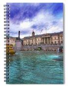 Trafalgar Square Fountain London 5 Art B Spiral Notebook