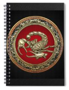 Treasure Trove - Sacred Golden Scorpion On Black Spiral Notebook