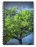 Tree On The Bank Spiral Notebook