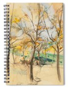 Trees In The Bois De Boulogne Spiral Notebook