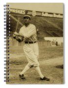 Tris Speaker With Boston Red Sox 1912 Spiral Notebook