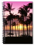 Tropical Sunset Spiral Notebook