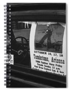 Truck With Right Wing Decal And Helldorado Days Poster Tombstone Arizona 1970 Spiral Notebook