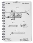 Trumpet Patent From 1919 Spiral Notebook