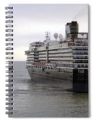 Tugboat Assisting Big Cruise Liner In Venice Italy Spiral Notebook