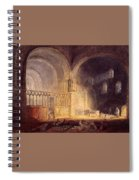 Turner Joseph Mallord William Transept Of Ewenny Prijory Glamorganshire Joseph Mallord William Turner Spiral Notebook