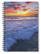 Twilight At Gale Beach In Albufeira Spiral Notebook