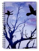Twilight Flight Spiral Notebook